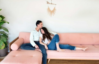 Michaele Simmering and Johann Pauwen Hit Furniture and Family on the Mark